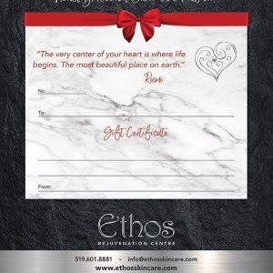 Ethos Skin Care Gift Certificate