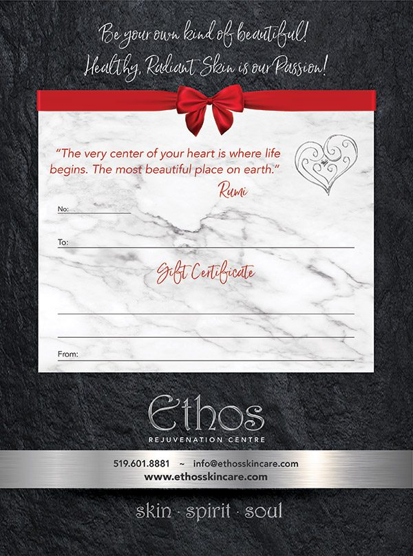 Ethos Rejuvenation Centre Gift Certificate
